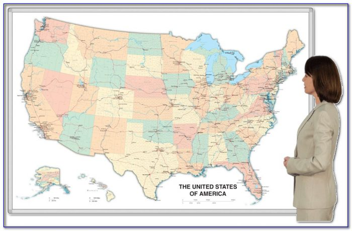 Magnetic Dry Erase Usa Map