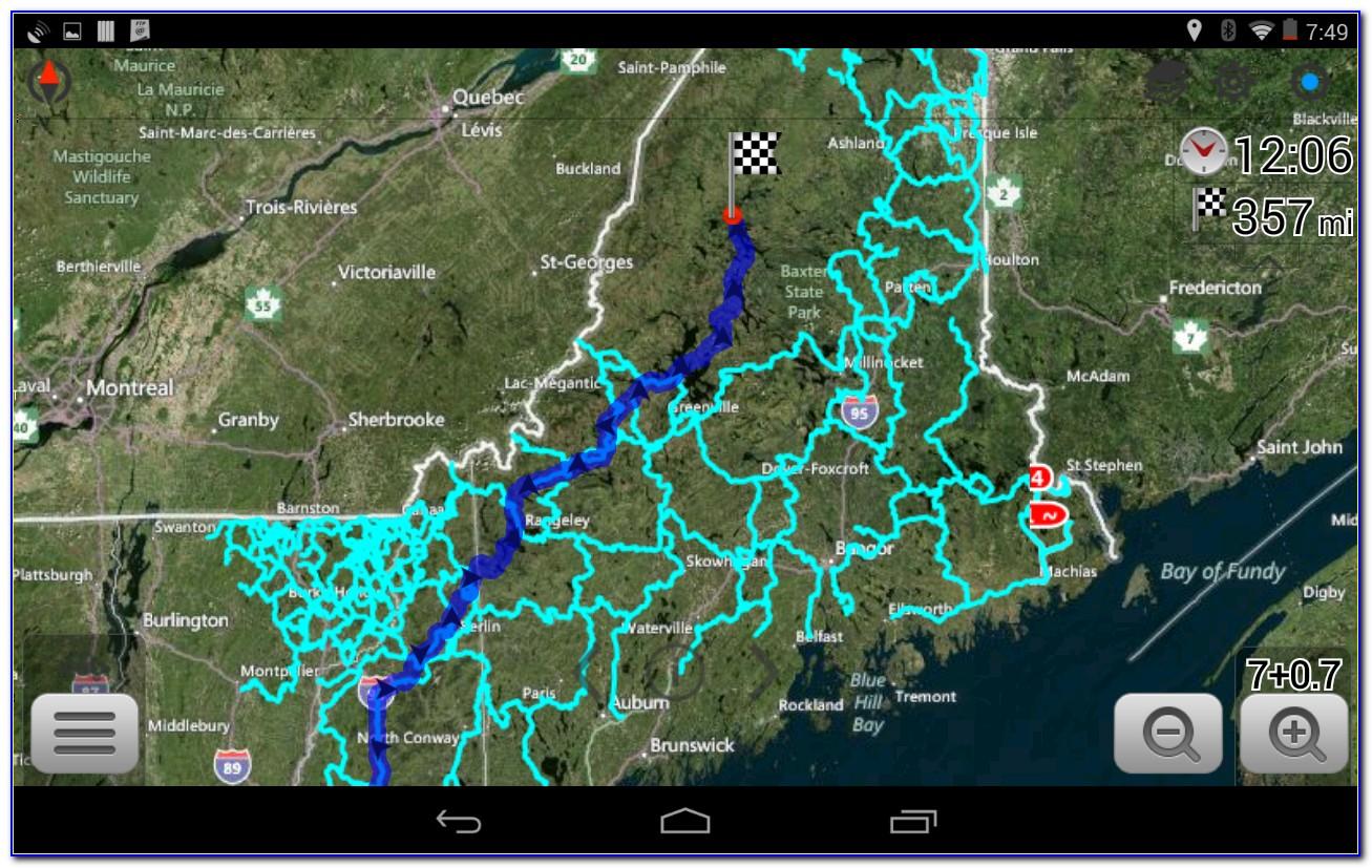 Maine Snowmobile Trail Map Gps