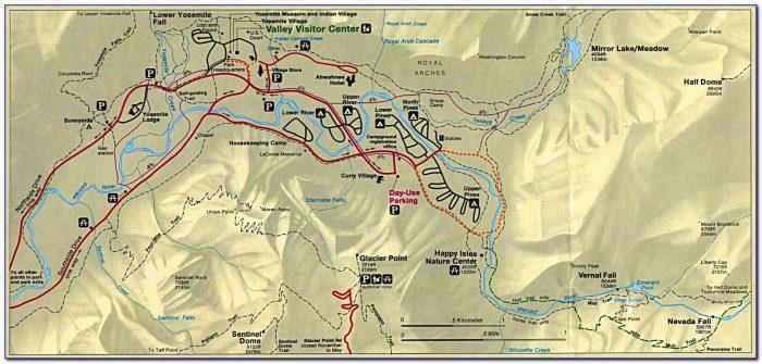 Map Around Yosemite National Park