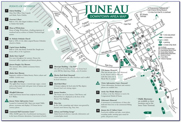 Map Juneau Alaska Area
