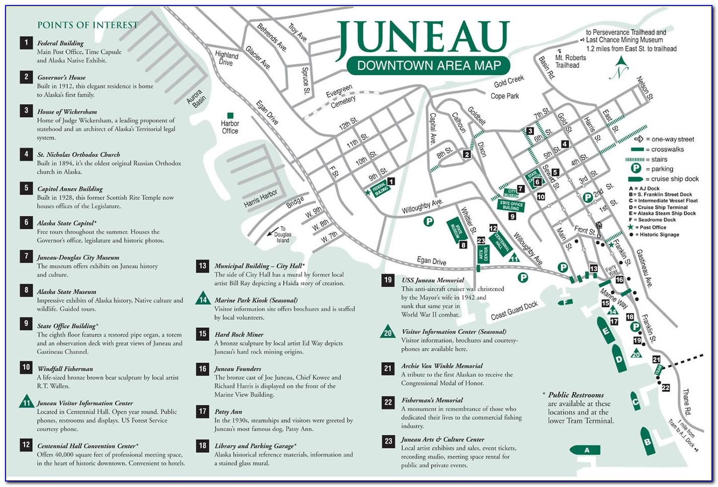 Map Juneau Alaska Area