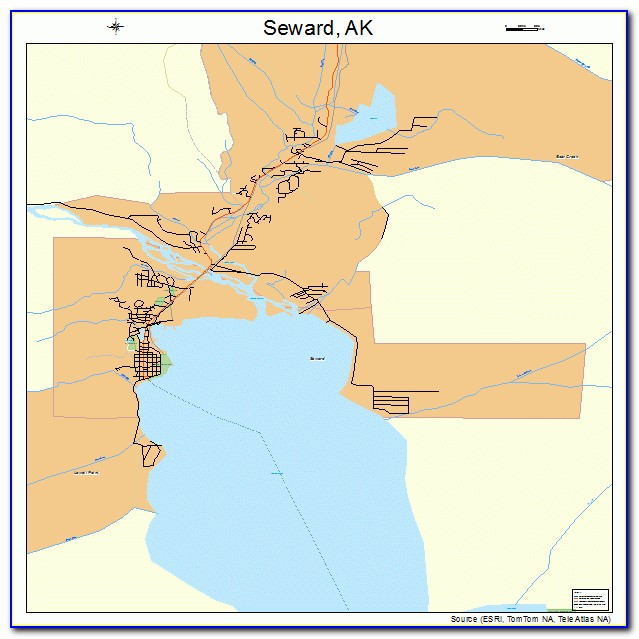 Map Of Anchorage And Seward Alaska