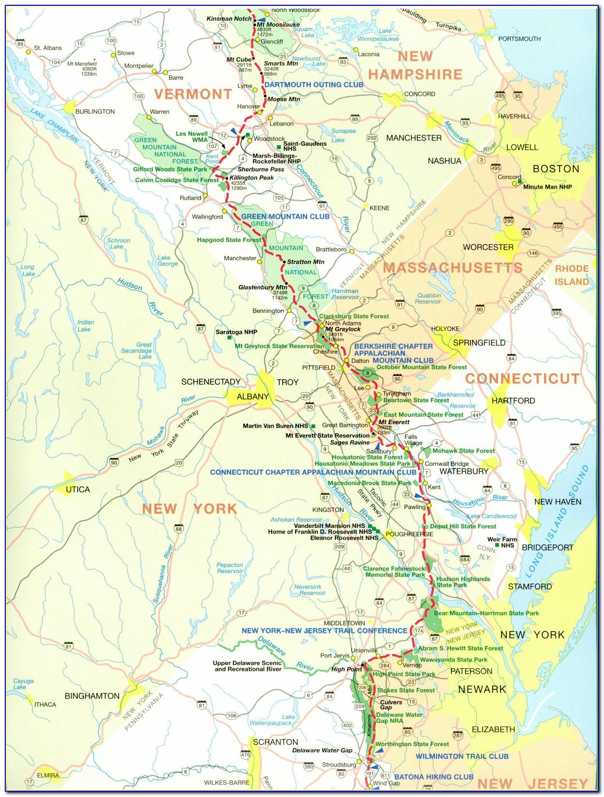 Map Of Appalachian Trail In North Carolina
