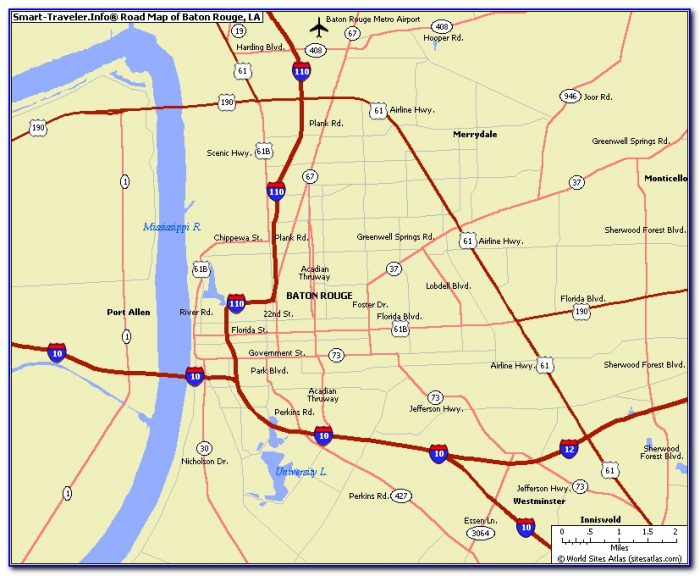 Map Of Baton Rouge La And Surrounding Areas