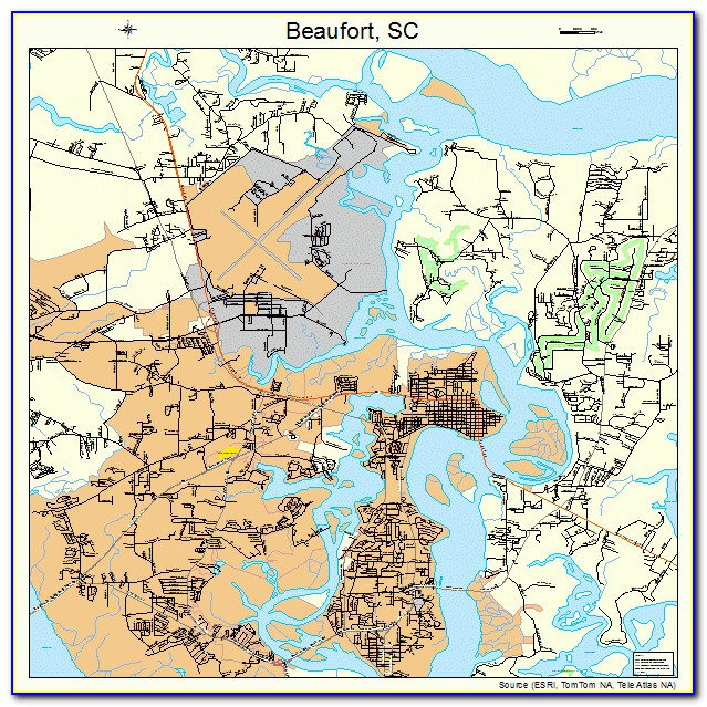 Map Of Beaufort Sc Area