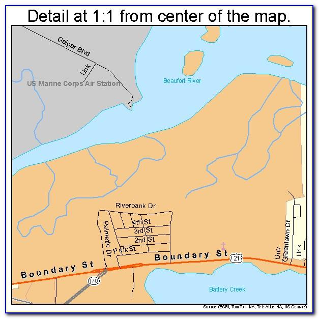Map Of Beaufort Sc City Limits
