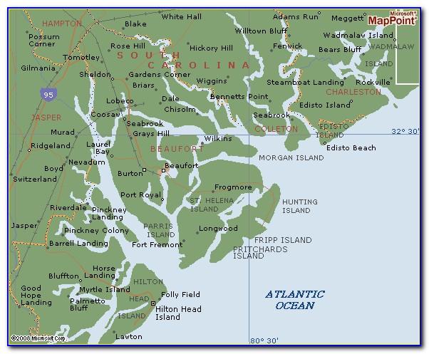 Map Of Beaufort Sc Neighborhoods