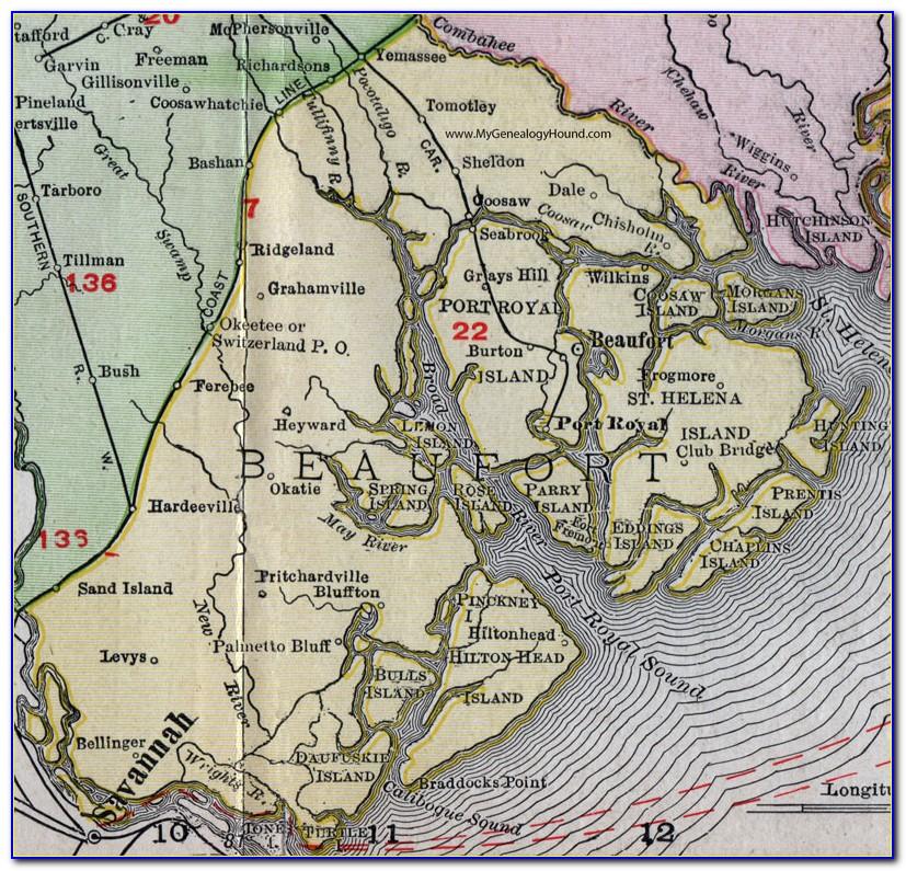 Map Of Beaufort Sc Waterways