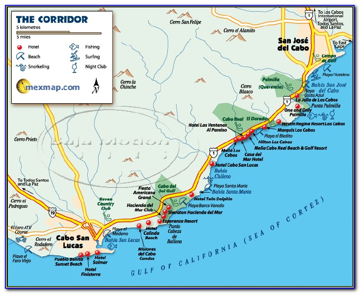 Map Of Cabo San Lucas Resort Locations