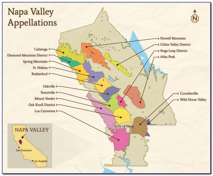 Map Of California Cities Napa Valley