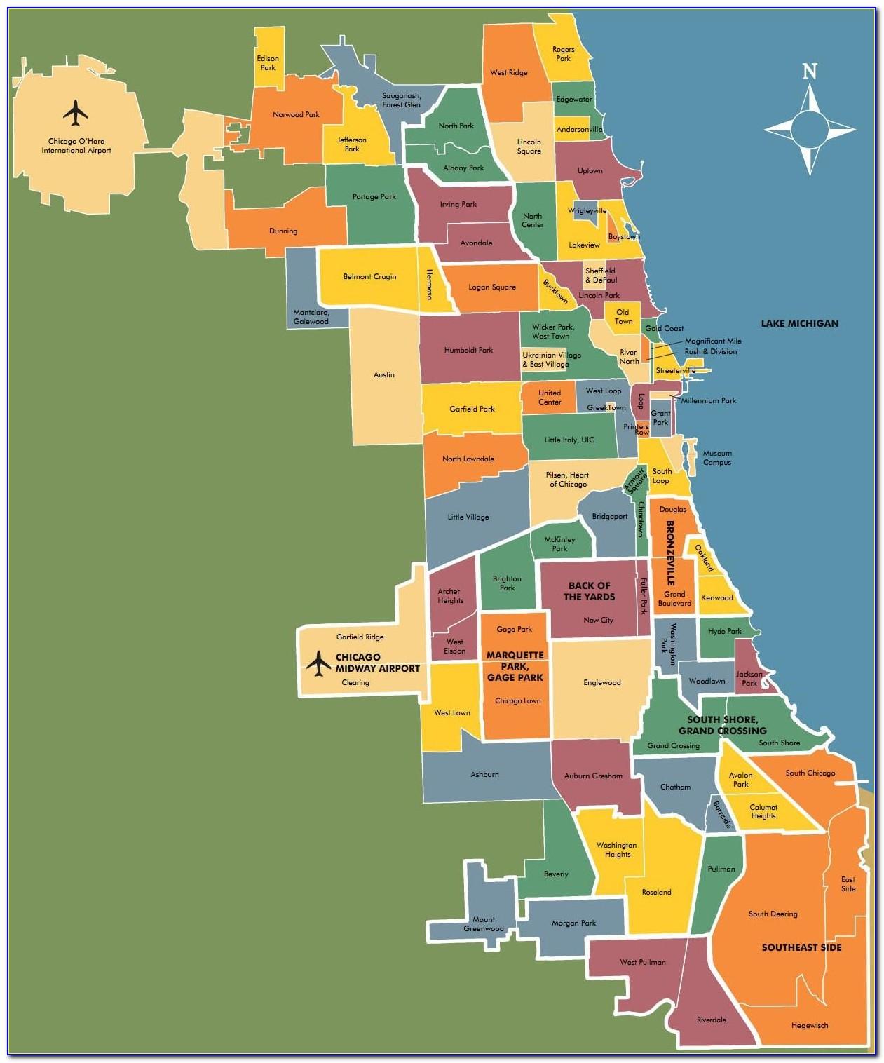 Map Of Chicago Neighborhoods 2018