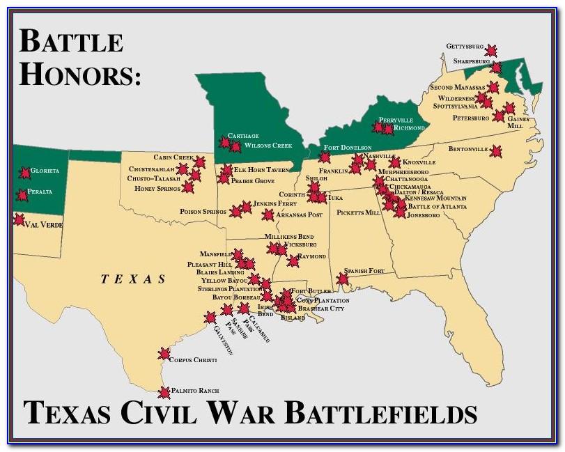Map Of Civil War Battlefields In North Carolina