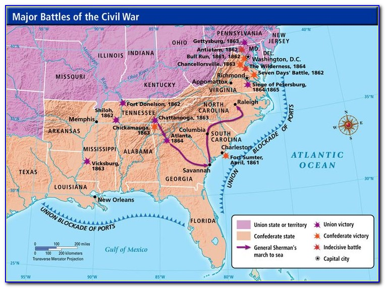 Map Of Civil War Battlefields In Virginia