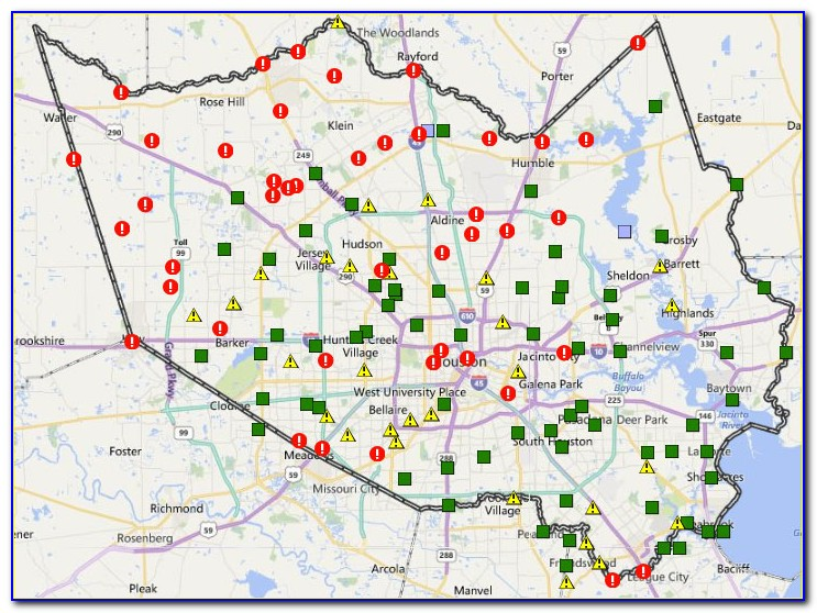 Map Of Currently Flooded Areas In Houston Today