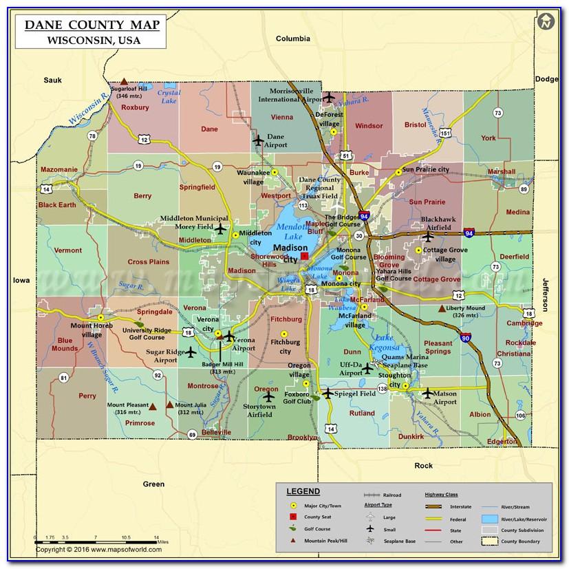 Map Of Dane County Regional Airport