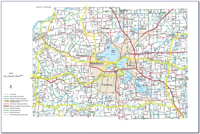 Map Of Dane County Wi
