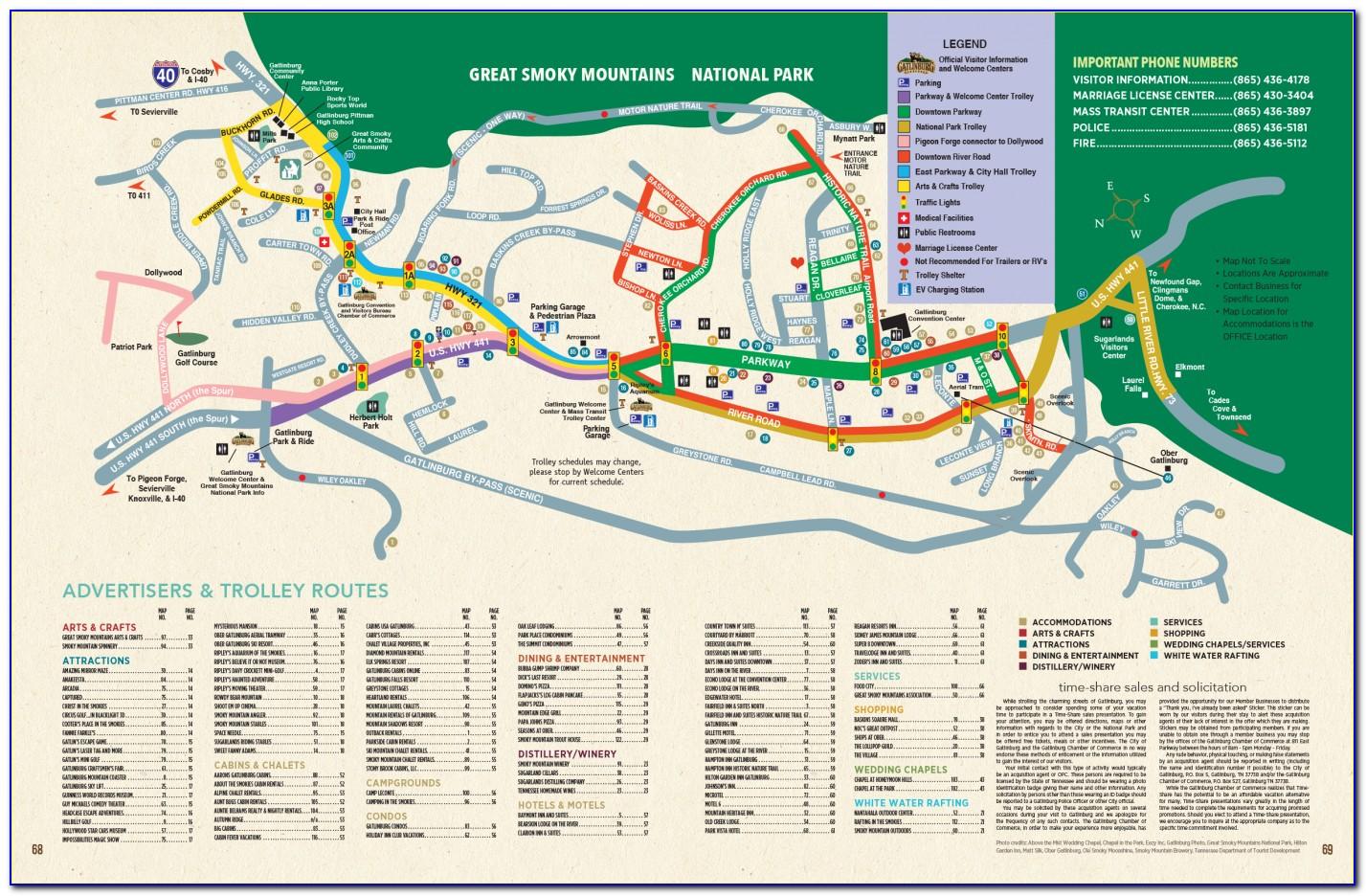 Map Of Downtown Gatlinburg Hotels