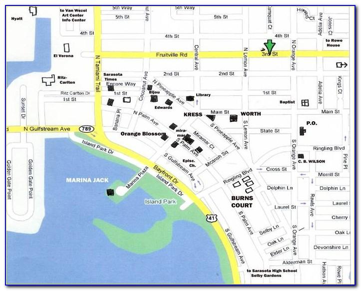 Map Of Downtown Sarasota Fl