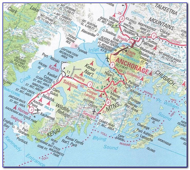 Map Of Downtown Seward Alaska