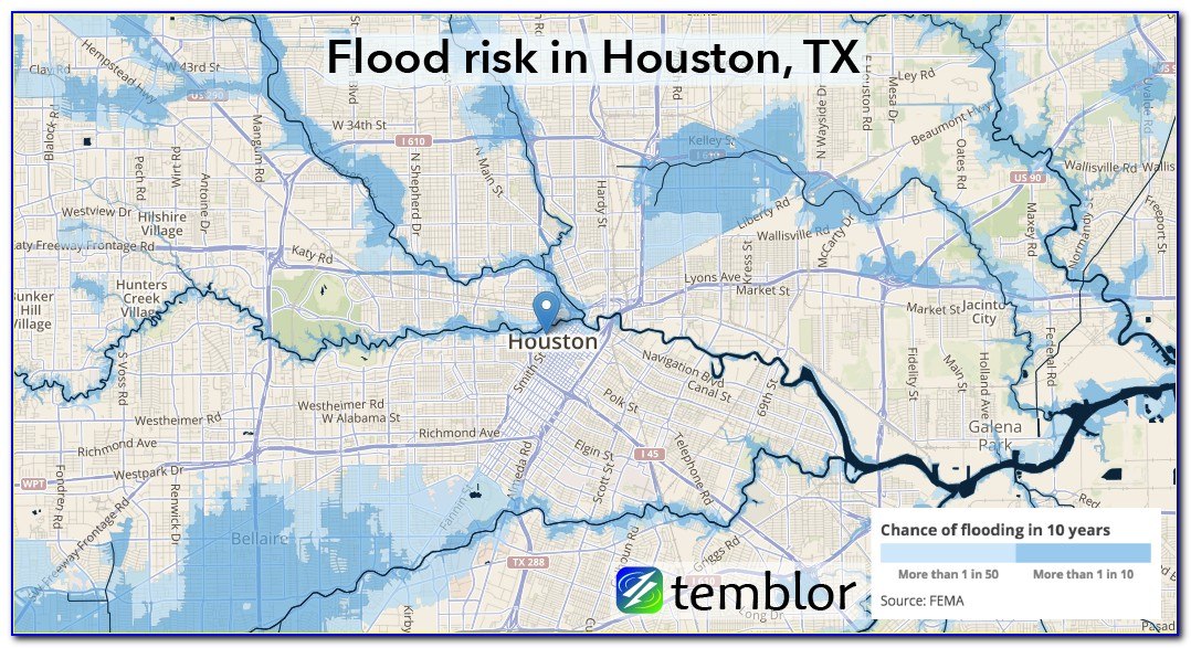 Map Of Flood Areas In Houston Tx