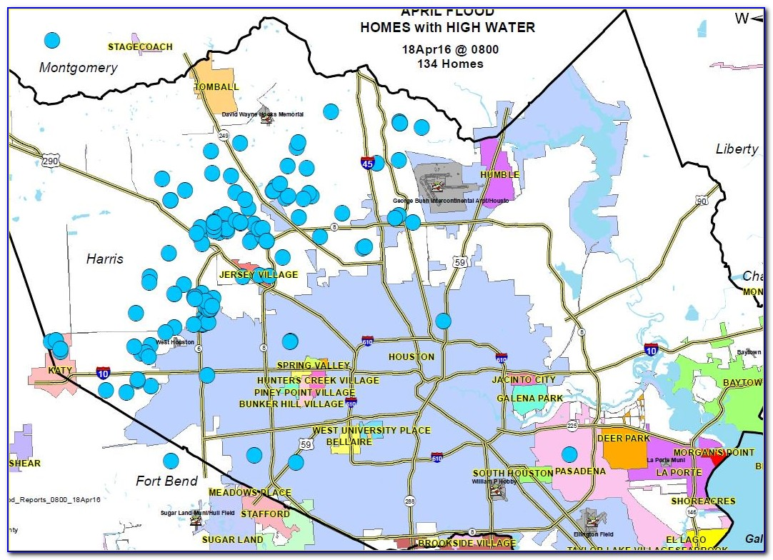 Map Of Flooded Areas In Houston Today