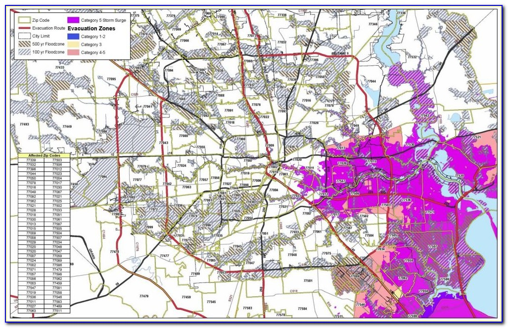Map Of Flooding In Houston Today