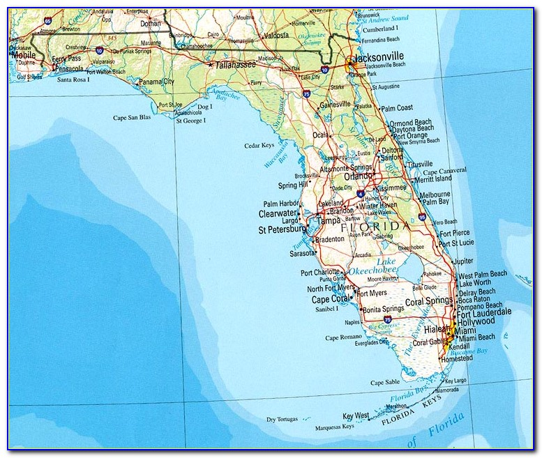 Map Of Florida Beaches And Airports