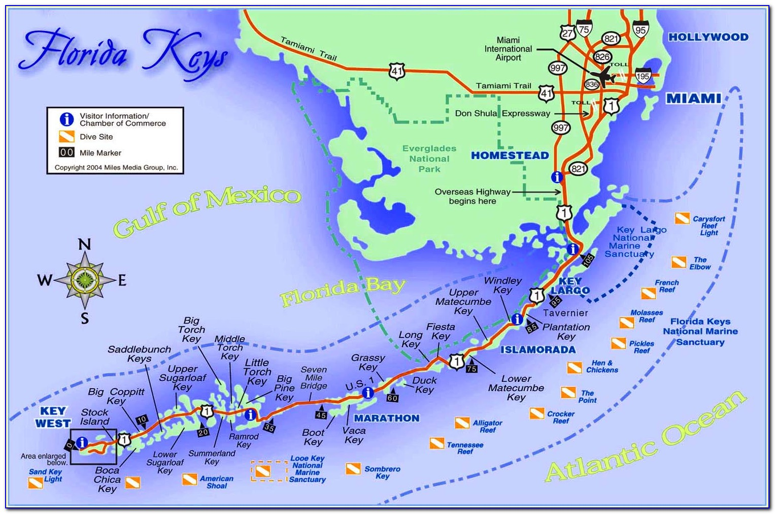 Map Of Florida Beaches On The Atlantic