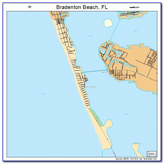 Map Of Florida Bradenton Beach