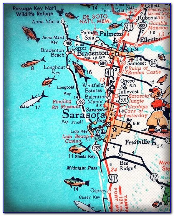 Map Of Florida Showing Bradenton Beach