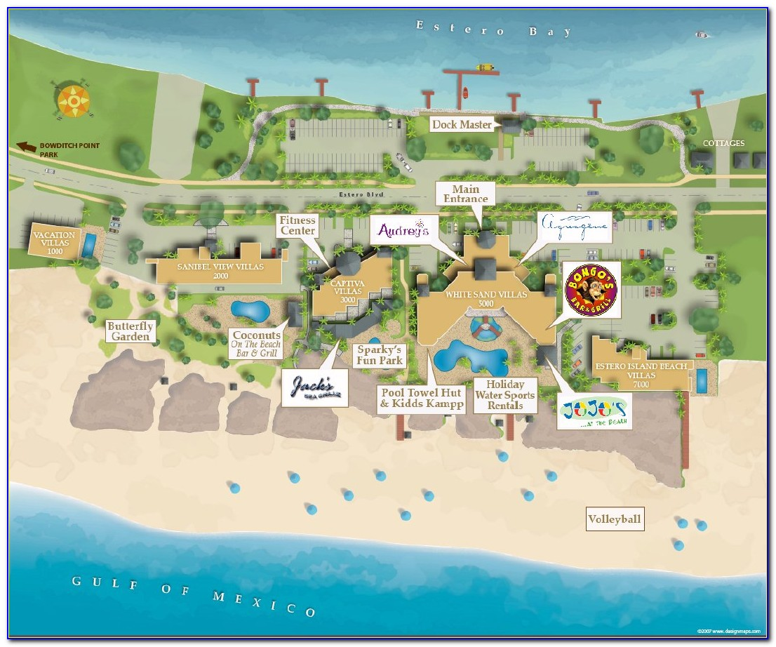 Map Of Fort Myers Beach Fl Hotels