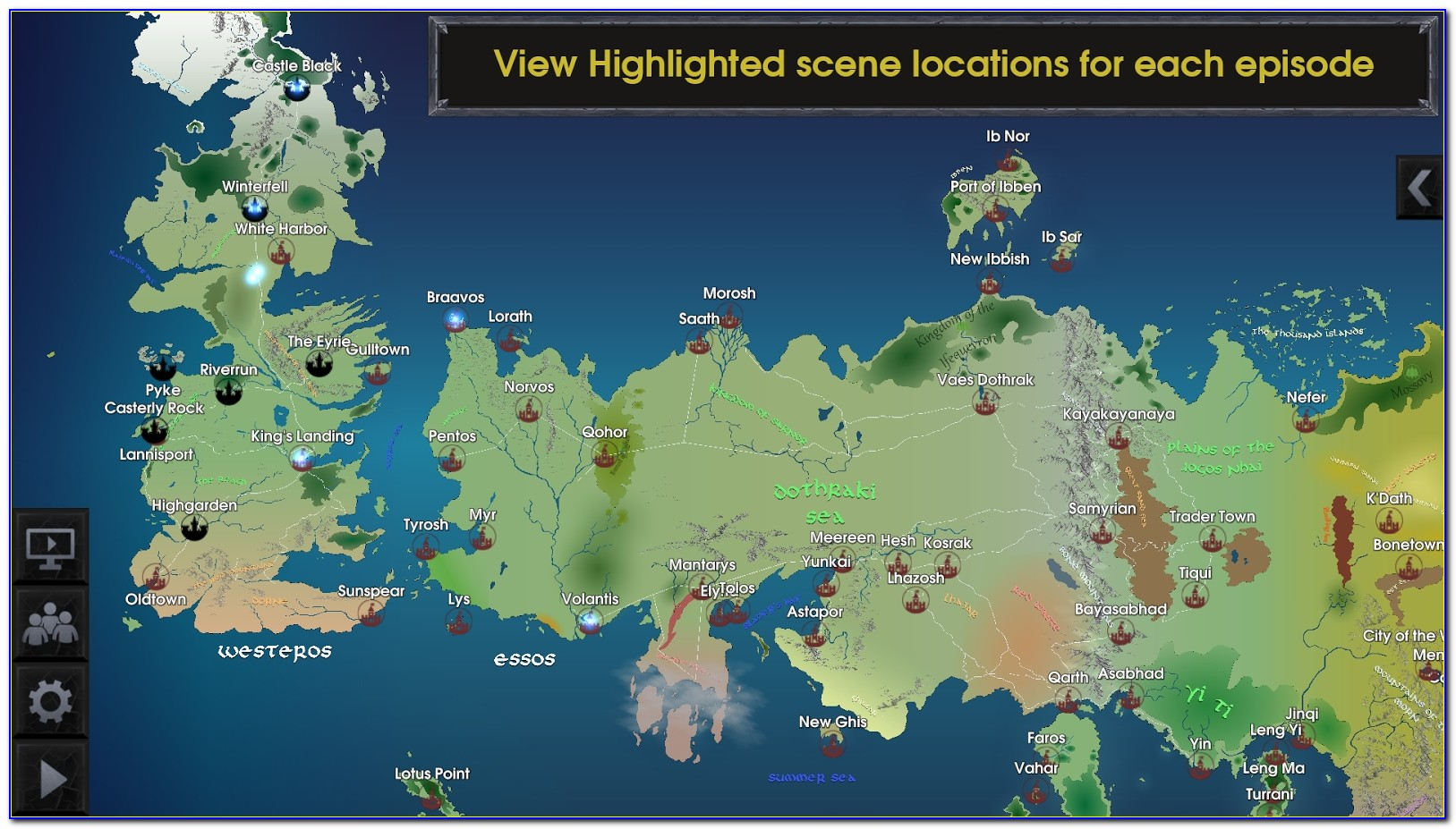 Map Of Game Of Thrones Kingdoms