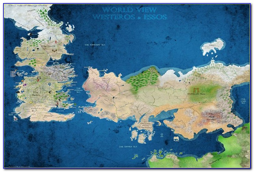 Map Of Game Of Thrones World