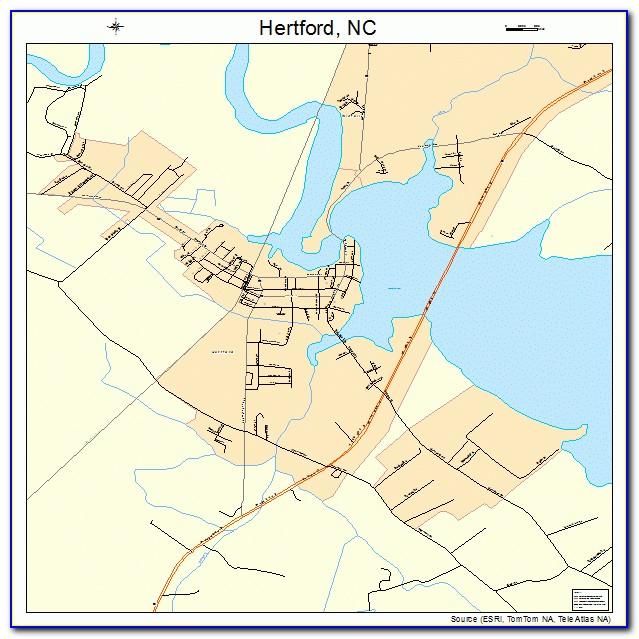Map Of Hertford Nc