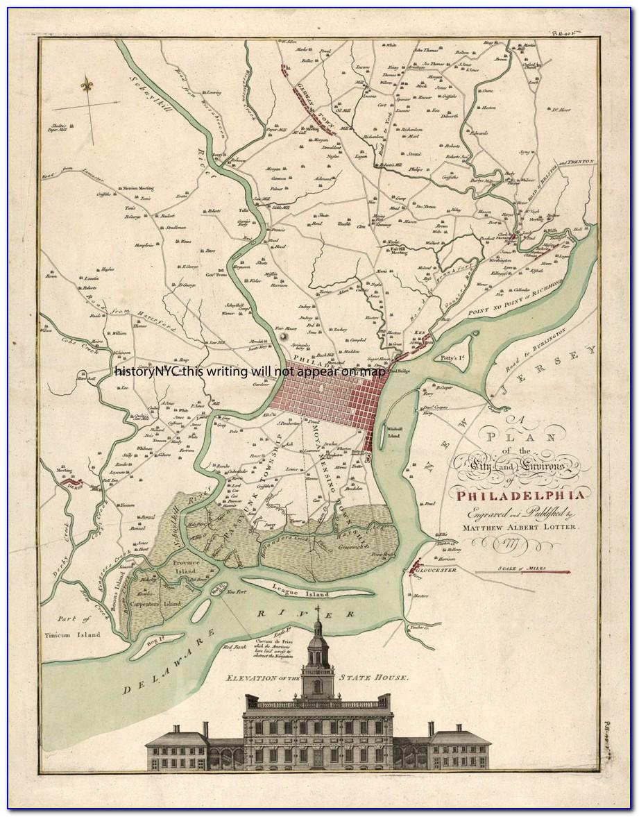 Map Of Historic District Philadelphia Pa