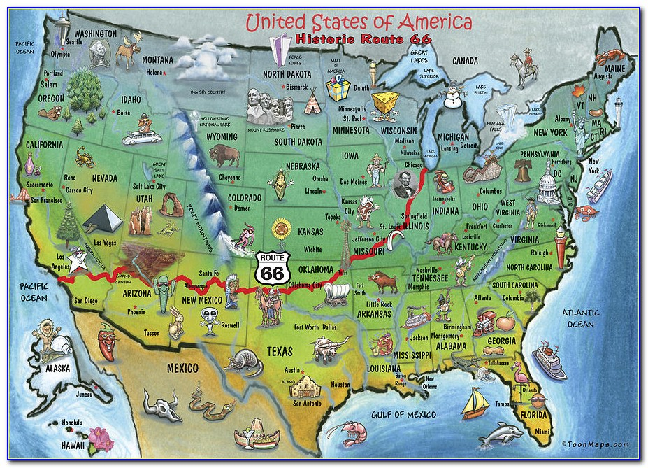 Map Of Historic Route 66 In Illinois
