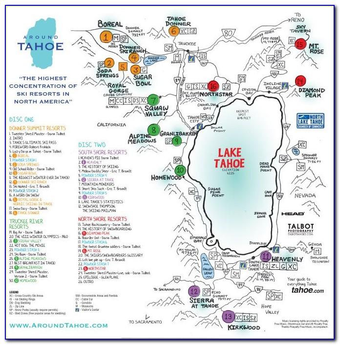 Map Of Hotels Around Lake Tahoe