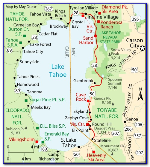 Map Of Hotels In South Lake Tahoe