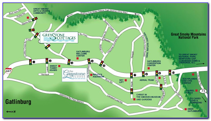 Map Of Hotels Near Gatlinburg Convention Center
