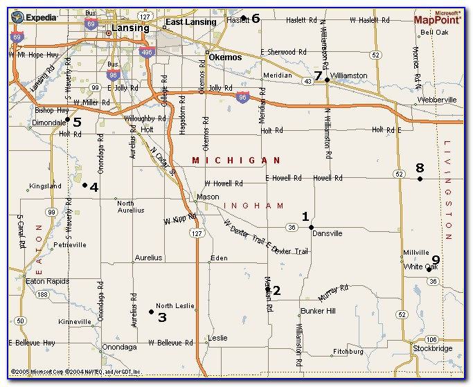 Map Of Ingham County Townships