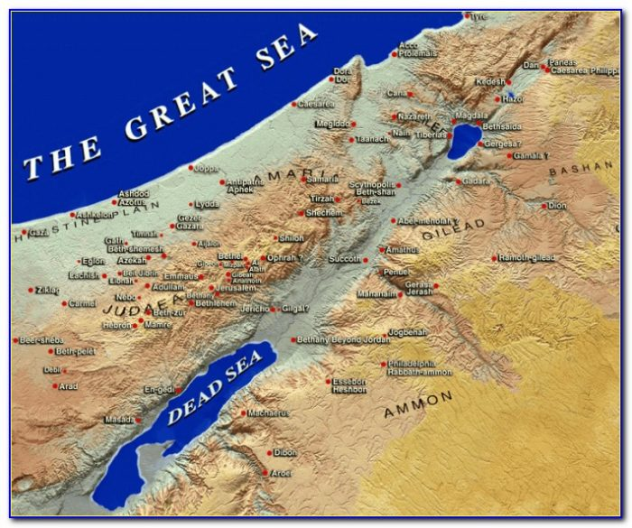 Map Of Israel In Bible Times And Now