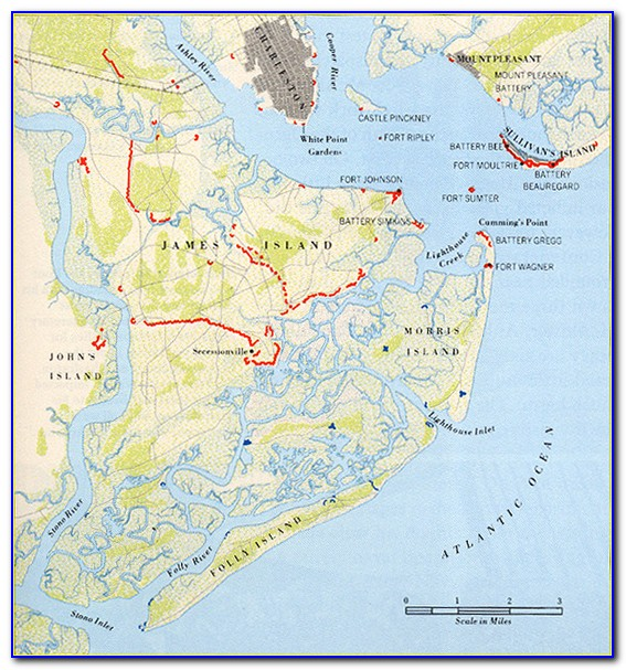 Map Of James Island Sc