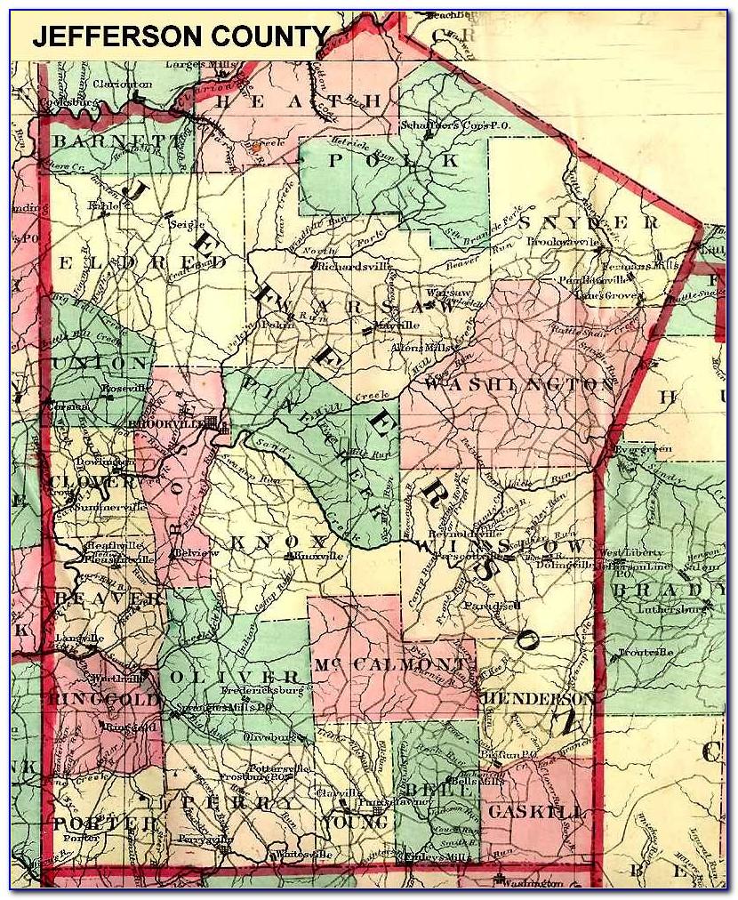 Map Of Jefferson County Pa