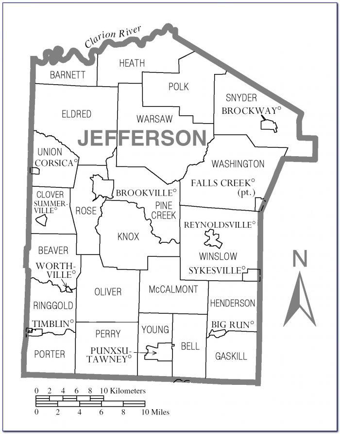 Map Of Jefferson County Pennsylvania
