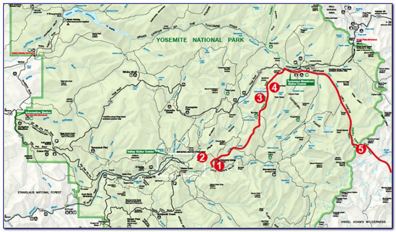 Map Of John Muir Trail In Yosemite