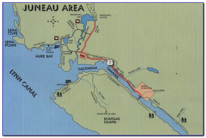 Map Of Juneau Alaska Roads