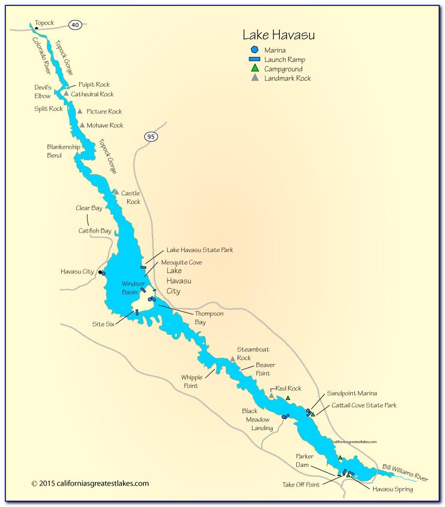 Map Of Lake Havasu Az