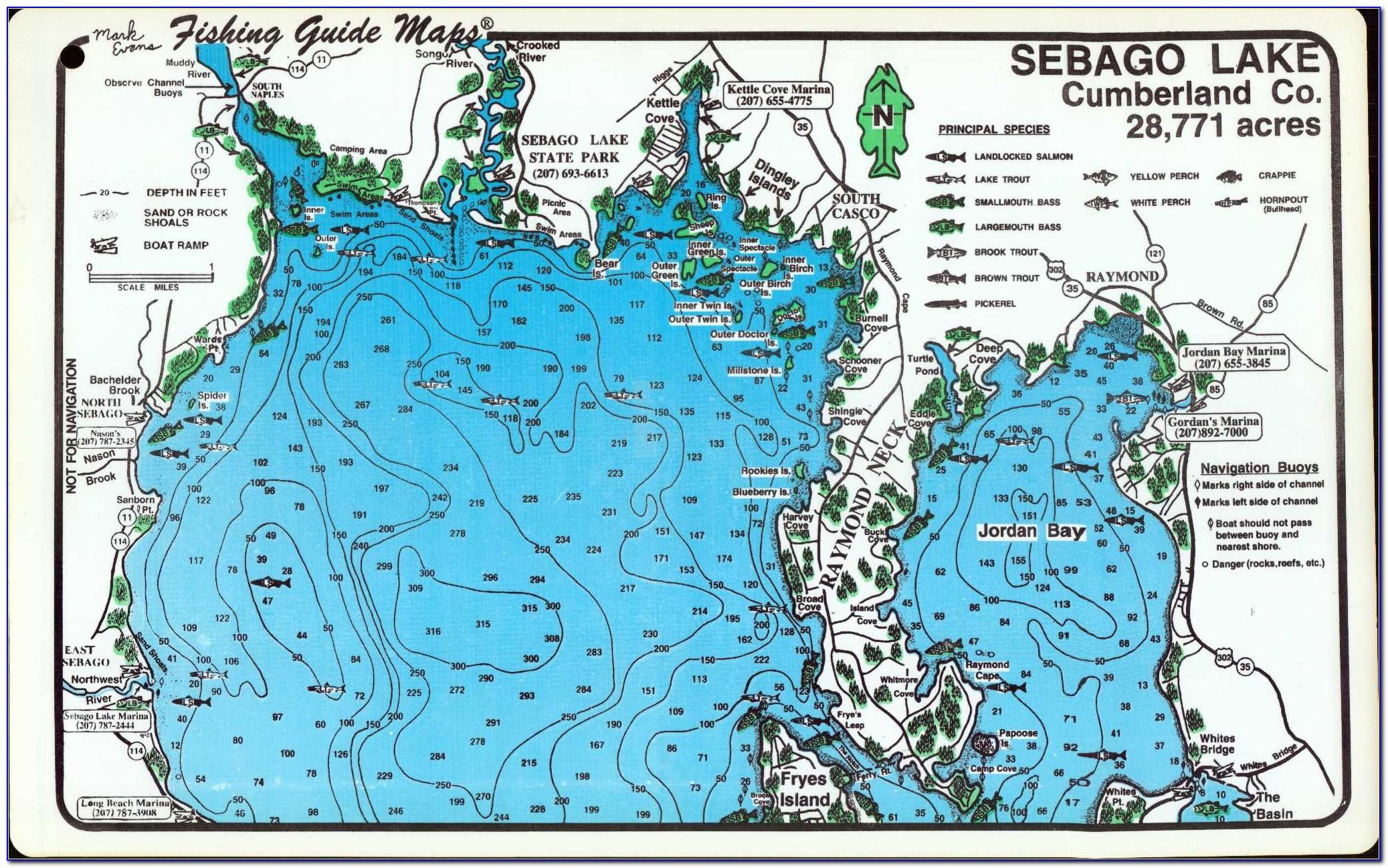 Map Of Little Sebago Lake Maine