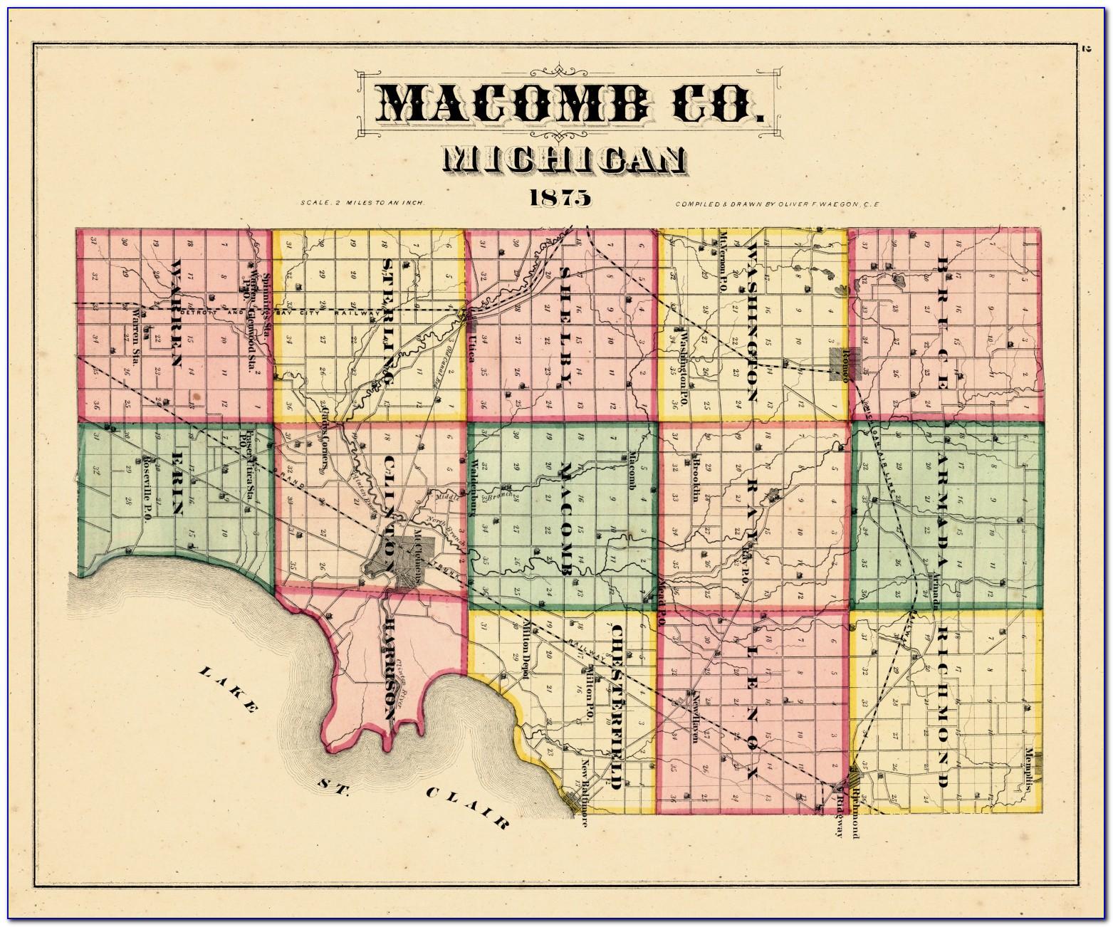 Map Of Macomb County Mi