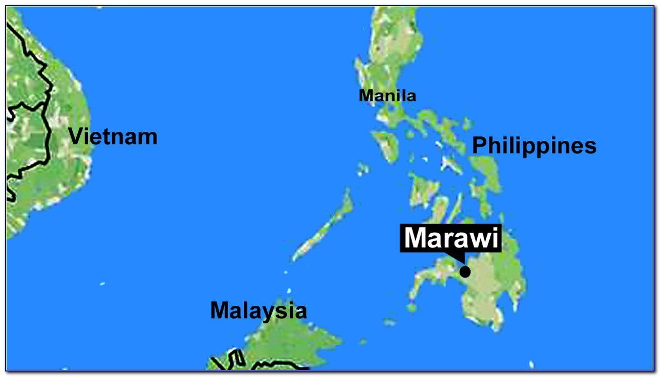 Map Of Marawi City Philippines